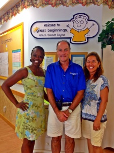 Me, Lloyd of Great Beginnings, and Pilar of Rancho Alegre. Making it happen for the kiddos!