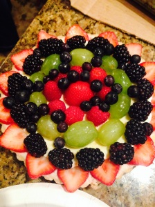 Figured I'd end this post with the beautiful fruit and mascarpone tart I brought to share. Why not?