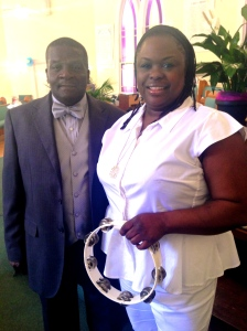 My lovely sister and Pastor McClendon.