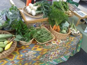 Grow Where You Are's booth at the Lilburn Farmers Market
